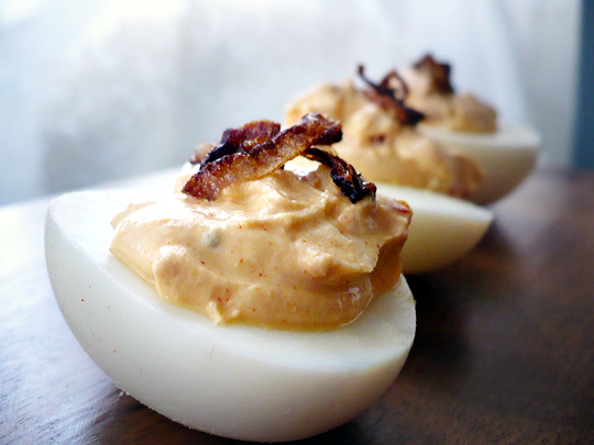 Smoky Deviled Eggs with Greek Yogurt