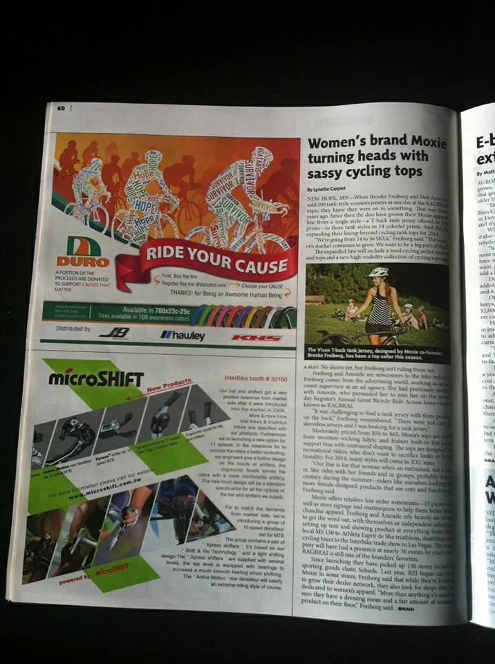 Moxie in Bicycle Retailer Magazine a62db8dee