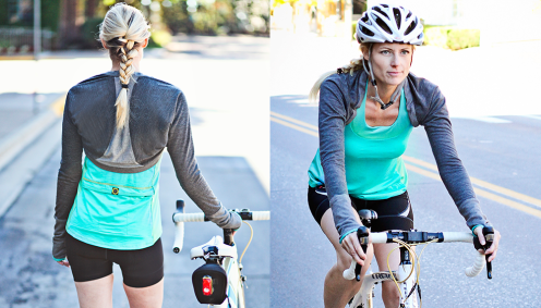 Charcoal Merino Wool Bolero | Moxie Cycling Co